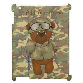 Cute Armed Forces Teddy Bear Military Mascot iPad Covers