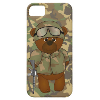 Cute Armed Forces Teddy Bear Military Mascot iPhone SE/5/5s Case