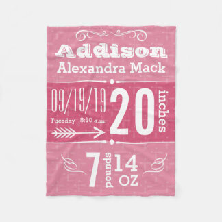 Cute Arrow Pattern Any Color Baby Blanket