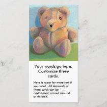 Cute art teddy bear drawing stuffed animal fun announcement