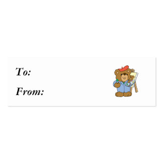 Cute Artist Teddy Bear Business Card