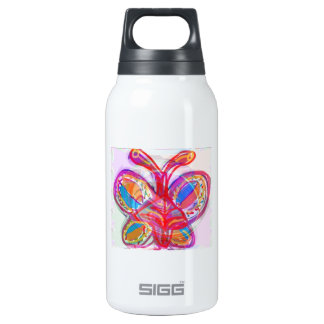 CUTE Artistic Butterfly :  Enjoy n Share the Joy 10 Oz Insulated SIGG Thermos Water Bottle