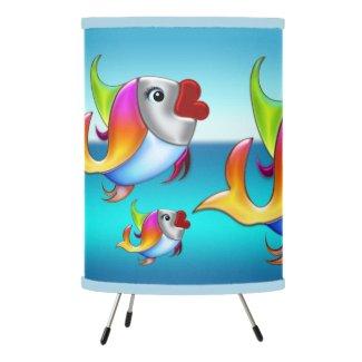 Cute Artistic Colorful Fish Animal Lamp