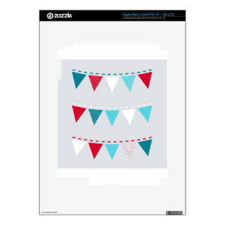 Cute artistic Flags : tshirts Decals For iPad 3