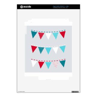 Cute artistic Flags : tshirts Skins For iPad 2
