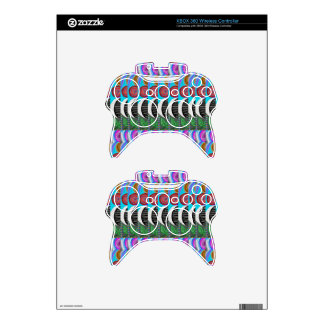 CUTE Artistic MOON Pattern : By NavinJOSHI Xbox 360 Controller Skin