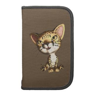 Cute Artistic Toon Charcoal Cheetah Wild Cat Planner