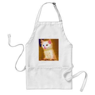 Cute Artsy Cat Adult Apron