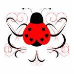 Cute Artsy Heart Ladybug Ornament Photo Cutouts