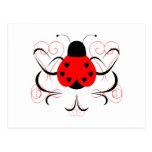Cute Artsy Heart Ladybug Postcard