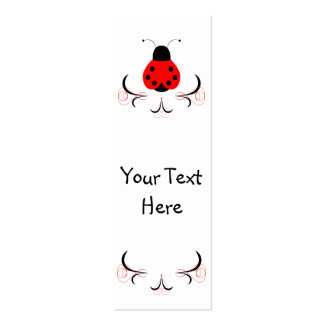 Cute Artsy Ladybug Bookmark Business Card Templates
