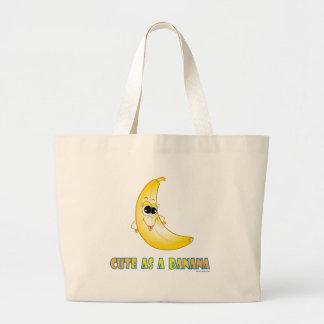 Cute as a banana.ai jumbo tote bag