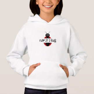 Cute as a bug: Add child's name or initials free Hoodie