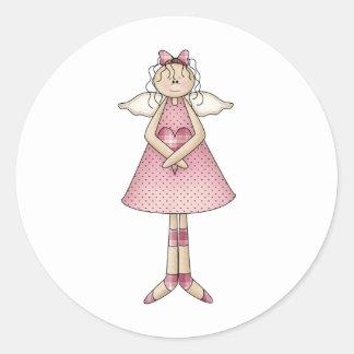 Cute as a Bug · Angel Classic Round Sticker