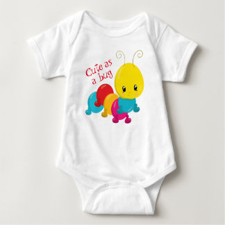 Cute as a Bug Baby Baby Bodysuit