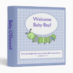 CUTE AS A BUG Caterpillar Photo album Baby Book 3 Ring Binders