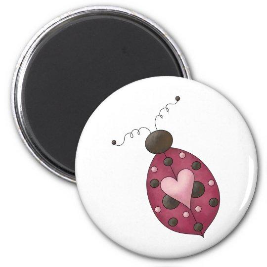 Cute as a Bug · Cerise Ladybug Magnet