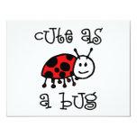 Cute as a Bug Custom Announcement