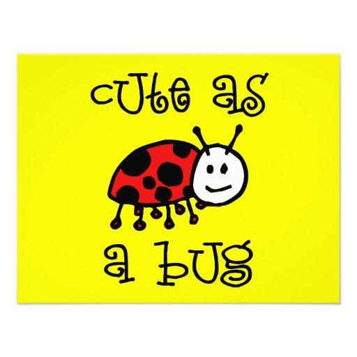 Cute as a Bug Custom Invitation