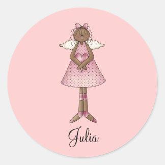 Cute as a Bug · Ethnic Angel Classic Round Sticker