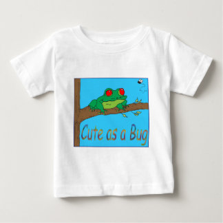 Cute as a bug - Happy Tree frog Baby T-Shirt