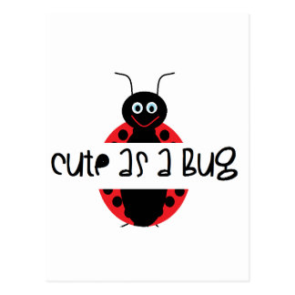 Cute as a bug: Personalize with your own text Postcard