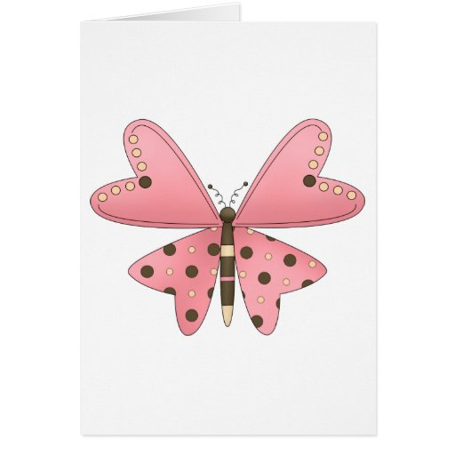 Cute as a Bug · Pink & Brown Butterfly Cards