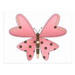 Cute as a Bug · Pink & Brown Butterfly Post Card