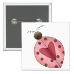 Cute as a Bug · Pink & Brown Ladybug Buttons