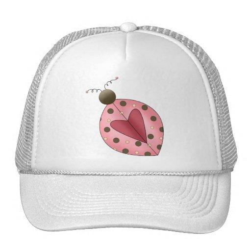 Cute as a Bug · Pink & Brown Ladybug Trucker Hat