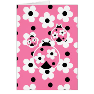 Cute As A Bug (Pink) Greeting Cards