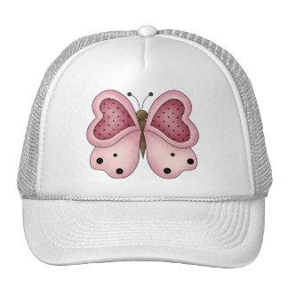 Cute as a Bug · Pink & Cerise Butterfly Trucker Hat