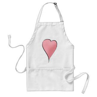 Cute as a Bug · Pink Heart Adult Apron
