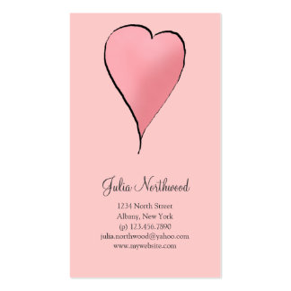 Cute as a Bug · Pink Heart Business Card