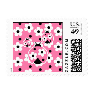 Cute As A Bug (Pink) Postage Stamp