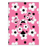 Cute As A Bug (Pink) Stationery Note Card