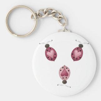 Cute as a Bug · Three Ladybugs Key Chain