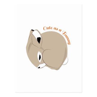 Cute As A Bunny Postcards