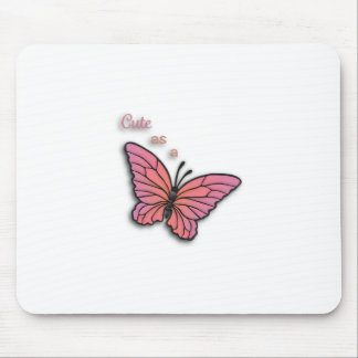Cute As A Butterfly Mouse Pads