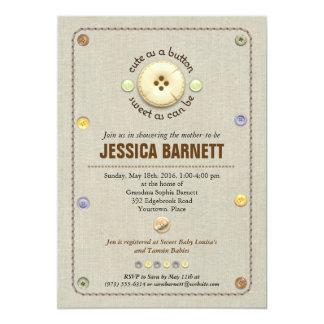 Cute as a Button Baby Shower Card