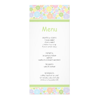 Cute As A Button | Baby Shower Menu