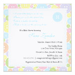 Cute as a Button Boy Baby Shower Invitation