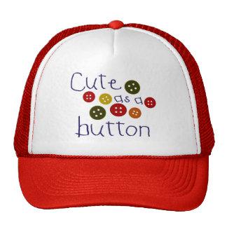 Cute as a button (boy) trucker hat