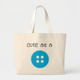Cute as a Button - Boy Large Tote Bag