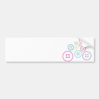 Cute as a Button Car Bumper Sticker