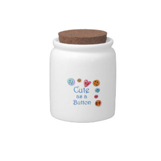 Cute As A Button Candy Jars