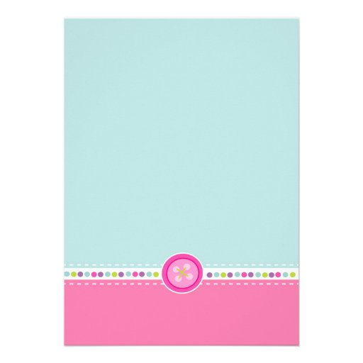 Cute as a Button First Birthday (Photo) Invitations (back side)