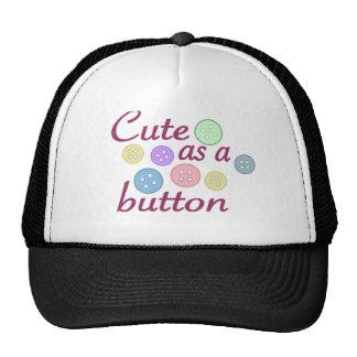 Cute as a button (girl) trucker hat