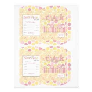 Cute as a Button Girl Mini Puff Box Full Color Flyer