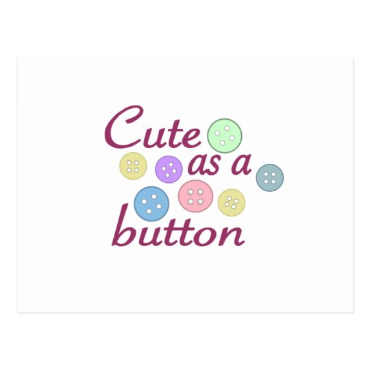 Cute as a button (girl) postcard